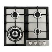 24 Inch Gas Cooktop 4 Sealed Burners Metal Knobs Stainless Steel Open Box