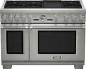 Thermador Pro Grand Series Prd486jdgu 48 Stainless Steel Dual Fuel Range