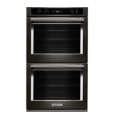Kitchenaid 30 Double Wall Oven Even Heat True Convection No Dents Kode500ebs