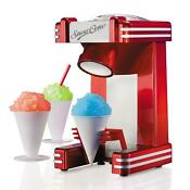 Electric Snow Cone Maker Home Retro Commercial Shaved Ice Cube Shaver Machine