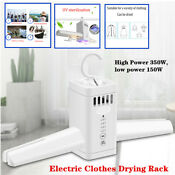 350w Home Electric Clothes Drying Rack Dryer Hanger Folding Travel Laundry Shoes