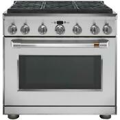 Cafe 36 Freestanding Professional Gas Range With Convection Cgy366p2ms1 New