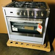 36 In Single Oven Gas Range W 5 Burner Cooktop Open Box Scratch Dent