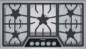 Thermador Masterpiece Sgsx365fs 36 5 Star Burner Stainless Steel Gas Cooktop