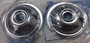 Pair 2 Genuine Oem Frigidaire 316048414 Electrolux Range 6 Chrome Drip Bowl
