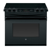 Ge 30 Drop In Electric Range 4 4 Cu Ft Black Jd630dfbb