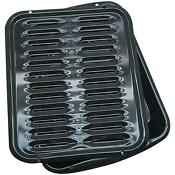 Broiler Pan Porcelain Meat Cooking Container Nonstick Rack Broiling Oven Stove