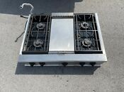 Ge Monogram 36 Pro Restaurant Style 4 Burner Gas Stainless Cooktop Indiana