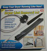New Dryer Max Vent Venting Duct Cleaning Lint Trap Removal Brush Vacuum Kit