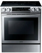 Samsung 30 Inch Slide In Electric Range With 5 Radiant Elements Ne58f9500ss