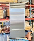 Sub Zero 650 36 Bottom Freezer No Flaw Stainless Steel Right Handle Cheapest