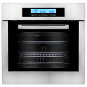 24 In Stainless Steel Electric Wall Oven Open Box True European Convection