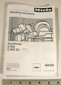 Miele Dishwasher Operating Instructions Pages 48