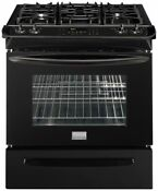 Frigidaire Gallery 30 Inch Black Gas Slide In Range Fggs3065kb
