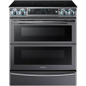 Samsung Black Stainless 30 Electric Dual Door Slide In Range Ne58k9850wg