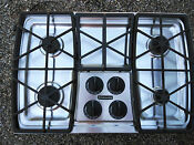 Kitchenaid Kgcs105gss08 4 Burner Gas Cooktop Stainless Steel Architect Series