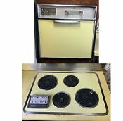 Vintage 1960 Ge Automatic Wall Oven Cooktop Electric Color Butter Yellow
