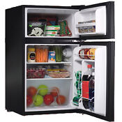 Mini Refrigerator Small Compact Ultra Portable Black 3 2 Cu Ft With Freezer