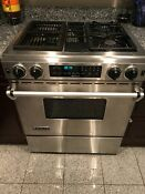 Jenn Air Range Jds9860aap Downdraft Stainless Steel Duel Gas Convection Oven