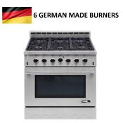 Nxr Entree 36 In Professional Gas Range With Convection Oven In Stainless Steel