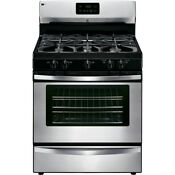 Freestanding Gas Range Stove In Stainless Steel Kenmore 73433 4 2 Cu Ft New