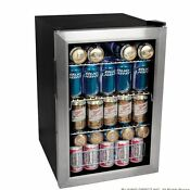 Glass Front Mini Fridge Without Freezer Beverage Cooler With Door For Bedroom