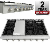 Thor Kitchen 48 Range Stove Griddle Stainless Steel 6 Burner Range Top Hrt4806u