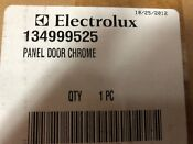 New Oem Electrolux Outer Chrome Door Panel For Washing Machine 134999525