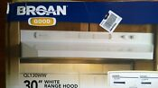 Nib Nice Broan 30 White Kitchen Range Hood Fan Ducted Or Non Ducted Ql130ww
