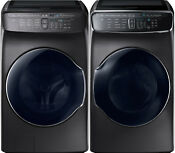Samsung Black Stainless Flex Washer Electric Dryer Wv60m9900av And Dve60m9900v