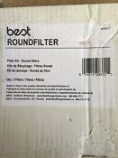 Broan Range Hood Non Ducted Replacement Round Filter Charcoal Traps 2 Piece