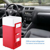 Compact Mini Usb Fridge Freezer Can Drink Beer Cooler Warmer Travel Car Office H