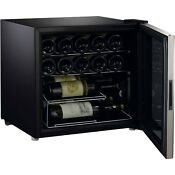 Galanz 16 Bottle Wine Cooler With Stainless Steel Door Frame Brand New Free Ship