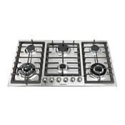 34in Titanium Stainless Steel 6 Burners Built In Stoves Ng Gas Cooktops Kitchen