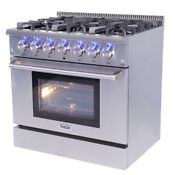 Gas Range 36 Thor Hrg3618u Professional Stainless Steel W 6 Burners Updates