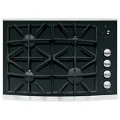Ge Profile Gas Cooktop Stainless Steel Common 30 In Actual 29 75 In