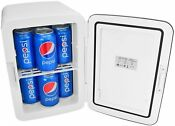 Cooluli Mini Fridge Electric Cooler And Warmer 15 Liter 18 Can Ac Dc