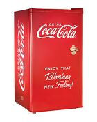 Coca Cola 3 2 Cu Ft Mini Fridge With Freezer Compartment