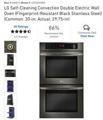 Lg 30 Black Stainless Steel Double Wall Oven
