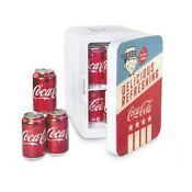Coca Cola Americana Retro K10lga Mini Fridge Portable Ac Dc Powered 12 Cans