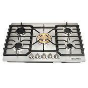 Metawell 30inch Stainless Steel Lpg Ng Built In Kitchen 5burner Oven Gas Cooktop