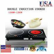 Double Induction Cooktop Burner Electric Dual Stove Top Durable Cooker Timer