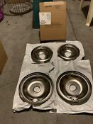 Chrome Stove Burner 2 X8 In 2 X6 In Bowls Top Electric Range Replacement Set