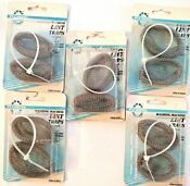 Lot Of 5 Washing Machine Lint Traps 10 Traps 5 Ties Rust Proof