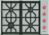 Wolf 30 30 Inch Professional Gas Cooktop With 4 Sealed Burners Cg304ps