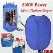 800w Portable Mini Electric Clothes Drying Machine Fast Dryer Folder Dryer Bag