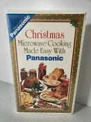 Christmas Microwave Cooking Made Easy With Panasonic Vhs Recipe Book Clamshell