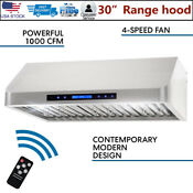 Stainless Steel Range Hood Under Cabinet 1000cfm Vent Extractor Kitchen Remote