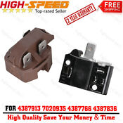 2pcs 4387913 Relay Overload For Whirlpool Refrigerator Ap3108669 5001