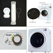 3 75 Cu Ft Compact Electric Laundry Dryer White And Black 120 Volt Panda